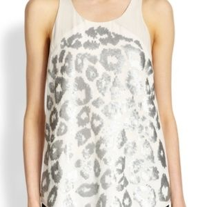 Rebecca Taylor sequined leopard going out top